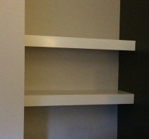 Bedroom Floating Shelves